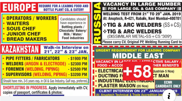 Assignment Abroad New Jobs 2019