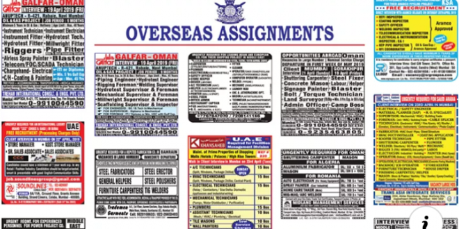 Assignment Abroad Times Newspaper Jobs Today