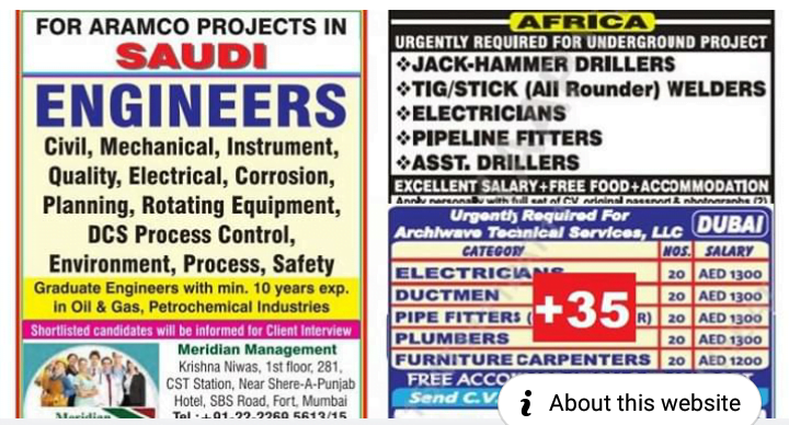 Abroad Jobs For Indians