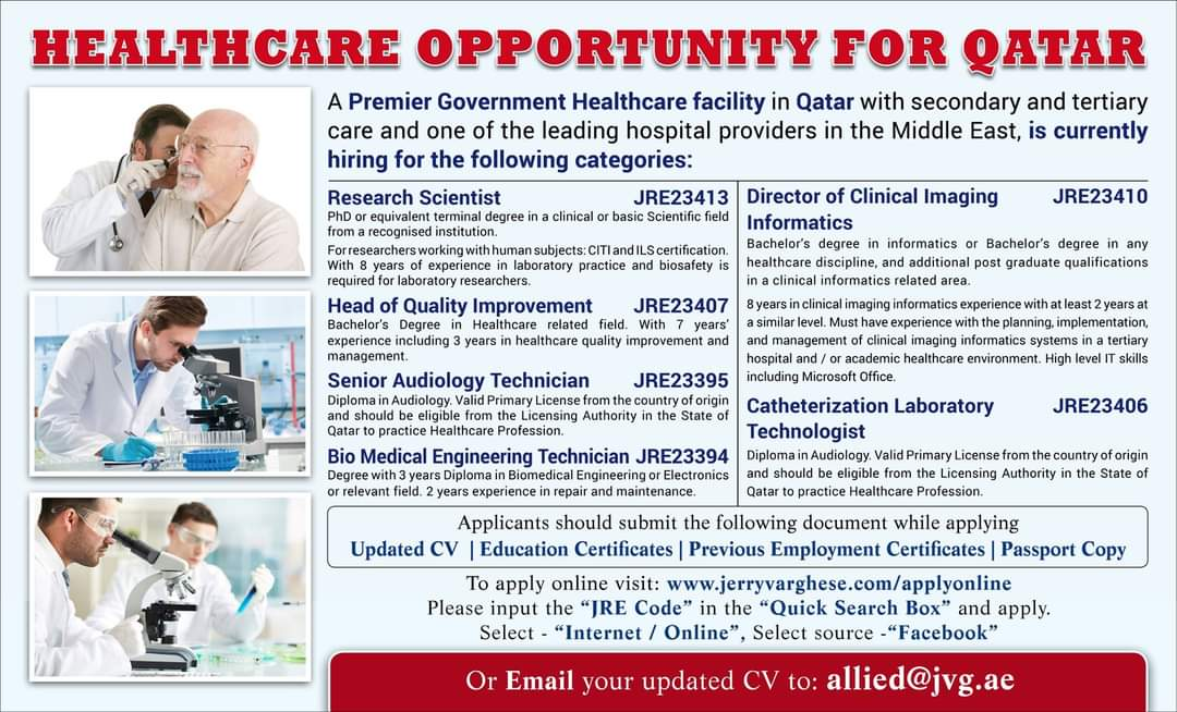 HEALTHCARE OPPORTUNITY FOR QATAR