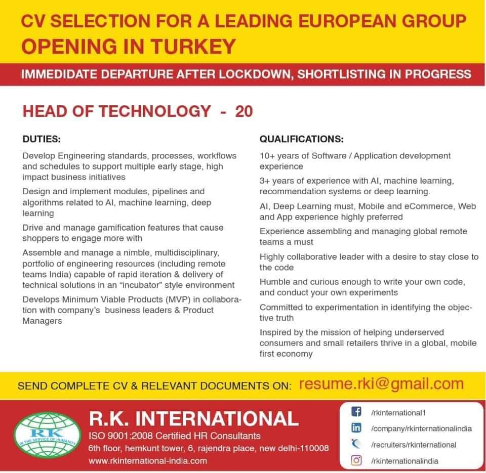 REQUIREMENT FOR LEADING EUROPEAN GROUP
