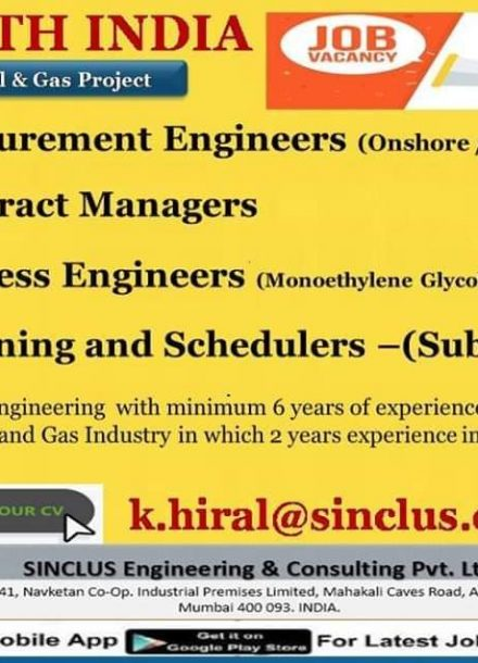 REQUIREMENT FOR SOUTH INDIA OIL AND GAS PROJECT