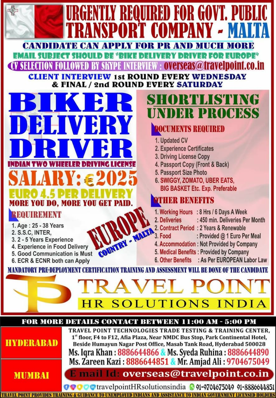 URGENTLY REQUIRED FOR GOVT. PUBLIC TRANSPORT COMPANY