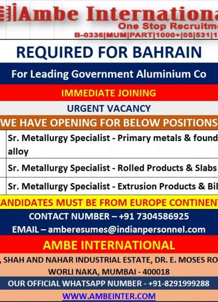 REQUIREMENT FOR LEADING GOVERNMENT ALUMINIUM COMPANY