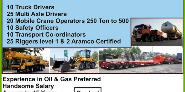URGENTLY REQUIRED FOR ONE OF THE LEADING RIG MOVE COMPANY