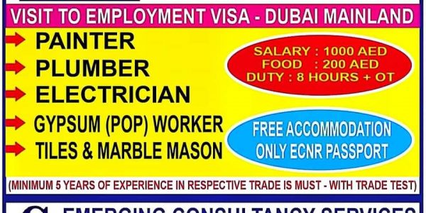 URGENTLY REQUIRED FOR DUBAI PROJECT