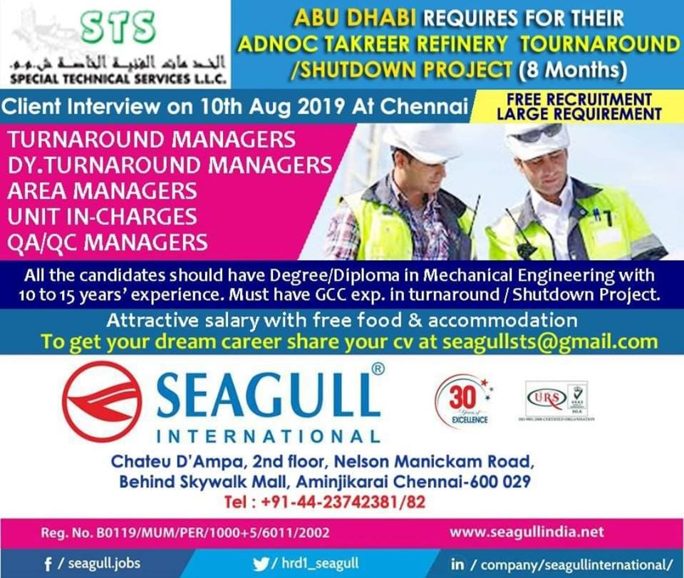 Client Interview In Mumbai For Gulf 2019 August 11, 2019 JOBS AT