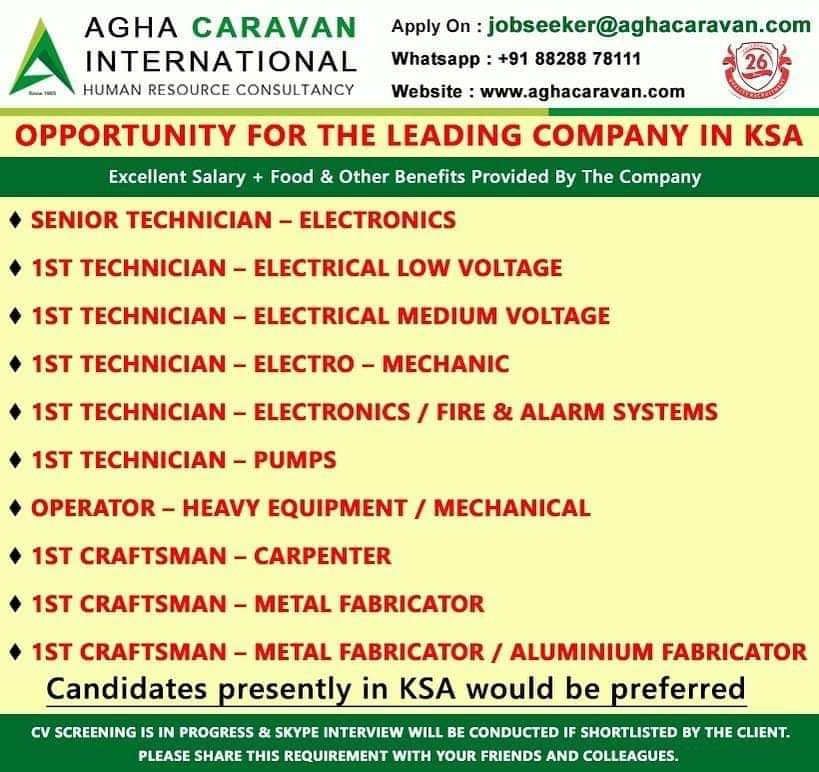 OPPORTUNITY FOR THE LEADING COMPANY IN KSA