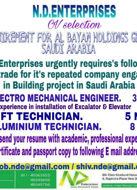 REQUIREMENT FOR AL- BAYAN HOLDINGS GROUP