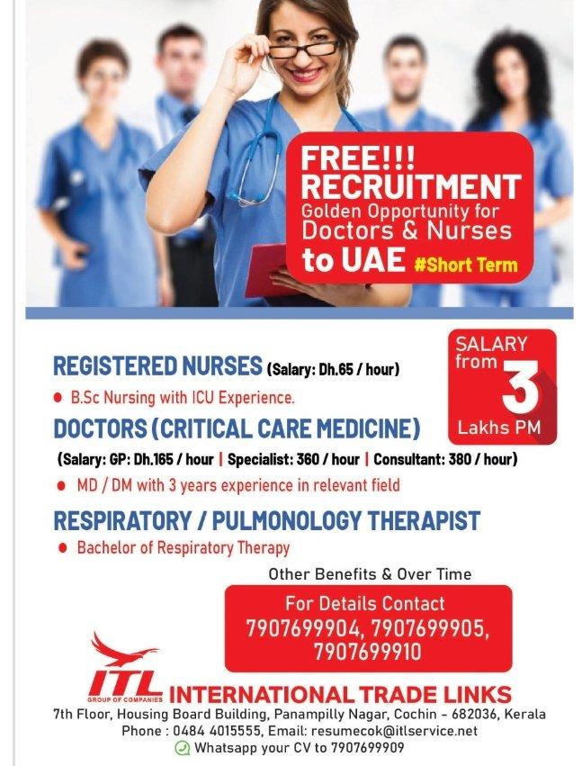 REQUIREMENT FOR DOCTORS & NURSES