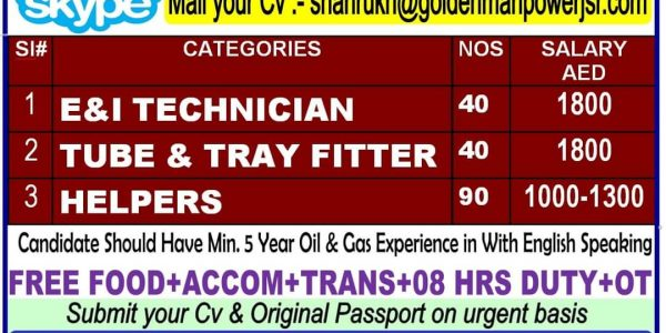 HUGE JOB VACANCIES IN UAE