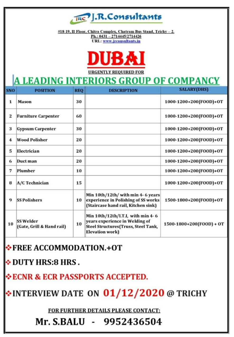 A LEADING INTERIORS GROUP OF COMPANCY-DUBAI