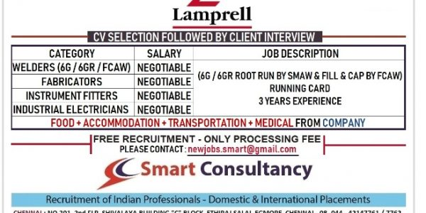 URGENTLY REQUIRED FOR LAMPRELL
