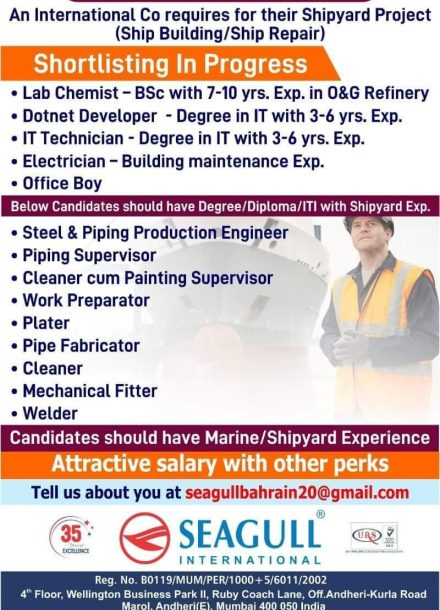 REQUIREMENT FOR AN INTERNATIONAL COMPANY FOR SHIPYARD PROJECT