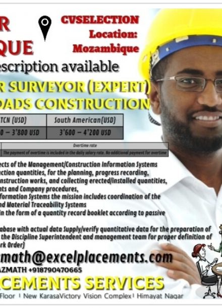 HIRING FOR MOZAMBIQUE