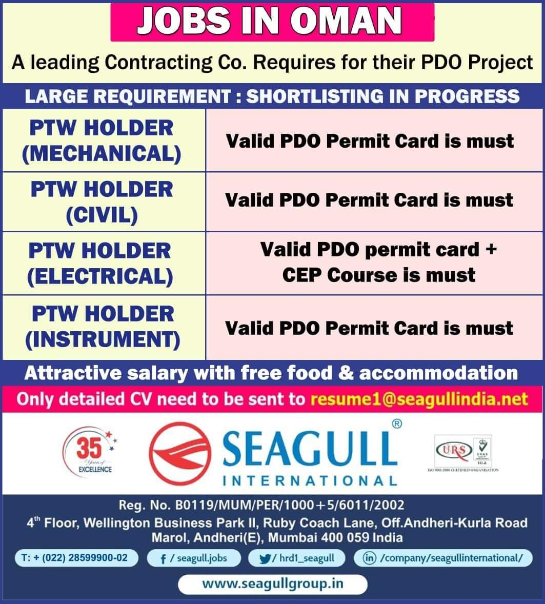 REQUIREMENT FOR A LEADING CONTRACTING COMPANY