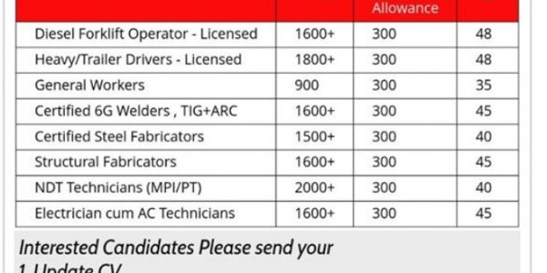 URGENTLY REQUIRED IN QATAR OR A LEADING COMPANY
