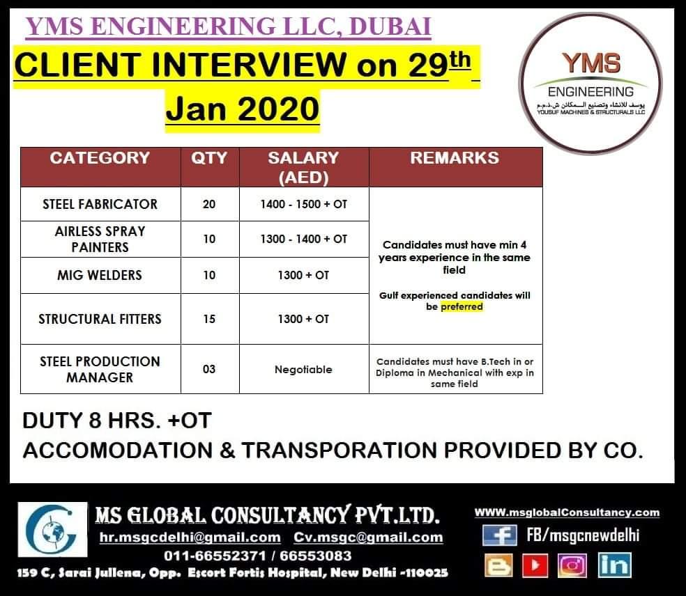 YMS ENGINEERING LLC,DUBAI