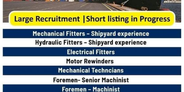 URGENTLY REQUIRED FOR AN INTERNATIONAL MARINE/SHIPYARD COMPANY