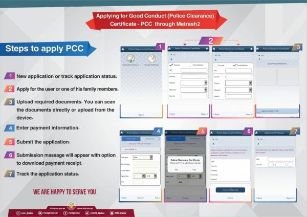 steps to apply police clearance certificate