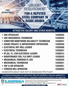 walk in interview for gulf countries in mumbai